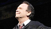 You gotta love him! Star Billy Crystal soaks in the applause on opening night of the return engagement of 700 Sundays.