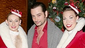 Broadway vet Constantine Maroulis shares a pre-show photo with Rockettes Ashley Kasunich and Kristina Larson Hauk.