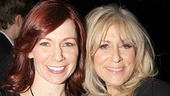 Emmy winners Carrie Preston and Judith Light, on hand as a presenters, shows off their fashionable ensembles.