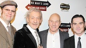 The four dapper gents of Waiting For Godot and No Man's Land— Shuler Hensley, Ian McKellen, Patrick Stewart and Billy Crudup—line up for a group shot.