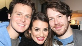 Tony winner John Gallagher Jr. joins Jonathan Groff and Lea Michele for a portrait of enduring friendship.