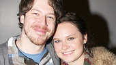 Her love couldn't save him on stage, but John Gallagher Jr. and Lauren Pritchard share a happy offstage reunion.