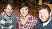 John Gallagher Jr., Gideon Glick and Brian Charles Johnson are thrilled to be back at Atlantic Theater.