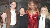 It's a family affair with Michael J. Fox, daughter Esmé and wife Tracy Pollan gathering for a snapshot with Kinky Boots leading men Stark Sands and Billy Porter.