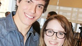 Derek Klena welcomes Caitlin Kunnunen to Broadway.