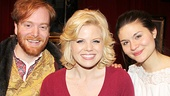 Megan Hilty is thrilled to reunite with Smash castmate Phillipa Soo (r.) and David Abeles at The Great Comet of 1812.
