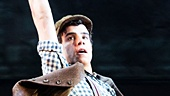 Jacob Guzman in Newsies. Photo by Matthew Murphy
