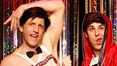 Scott Richard Foster, Marcus Stevens, Carter Calvert (front) & Mia Gentile in Forbidden Broadway