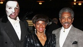 Norm Lewis is proud to have his pals, actress and singer Melba Moore and actor Andre De Shields, by his side on opening night.