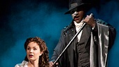 Sierra Boggess as Christine & Norm Lewis as The Phantom in The Phantom of the Opera. Photo by Matthew Murphy