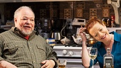 Stephen McKinley Henderson as Pops & Elizabeth Canavan as Detective Audrey O'Connor in Between Riverside and Crazy