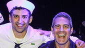 On the Town - Backstage - 10/14 - Andy Cohen - Jay Armstrong Johnson - Tony Yazbeck - Clyde Alves