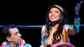 Rob McClure as Jack Singer and Catherine Ricafort as Mahi in Honeymoon in Vegas