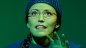 Caroline Bowman as Elphaba in Wicked