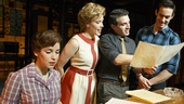 Chilina Kennedy as Carole King, Jessica Keenan Wynn as Cynthia Weil, Jarrod Spector as Barry Mann and Scott J. Campbell as Gerry Goffin in Beautiful: The Carole King Musical