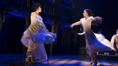 Chita Rivera as Claire Zachanassian & Michelle Veintimilla as Young Claire in The Visit. Photo by Thom Kaine.