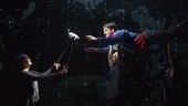Mercedes Herrero, and Tyler Lea as Christopher in The Curious Incident of the Dog in the Night