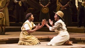 Cynthia Erivo as Celie and Joaquin Kalukango as Nettie in The Color Purple.