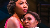 Heather Headley as Shug Avery and Cynthia Erivo as Celie in The Color Purple.