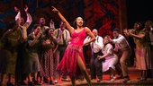 Heather Headley as Shug Avery and the cast of The Color Purple.