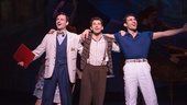 Max von Essen as Henri, Brandon Uranowitz as Adam and Dimitri Kleioris as Jerry in An American in Paris.