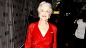 Lady in red indeed! Five-time Tony Award winner and A Little Night Music dame Angela Lansbury outshines the carpet itself. 