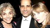 Lend Me a Tenor's married stars Brooke Adams and Tony Shalhoub make Tony night a family night by bringing along their daughter, Josie.
