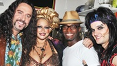 Castmates Adam Dannheisser, Michele Mais and Jeremy Woodard hit guest Taye Diggs with their best shot.