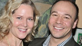 Broadway couple Rebecca Luker and Danny Burstein (star of LCT's South Pacific) join the celebration.