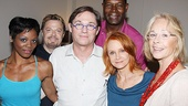 Swoosie Kurtz and actress Maureen Anderman get close to Race stars Afton C. Williamson, Eddie Izzard, Richard Thomas and Dennis Haysbert after an exhilarating performance.