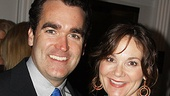 "Brian d'Arcy James (with wife Jennifer Prescott) tied on a blue tie to sing ""Blue Skies"" in the White House."