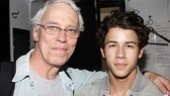 Terrence Mann and Nick Jonas sure had a lot to discuss—both are veterans of Broadway hits Beauty and the Beast and Les Miserables!