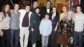One big happy family! The Jonas and Addams broods come together for a giant family portrait.