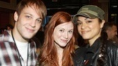 Hair cutie Allison Case pays a visit to her former co-star Theo Stockman and pal Karen Olivo.