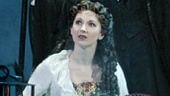Hugh Panaro as The Phantom and Sara Jean Ford as Christine Daae in The Phantom of the Opera.