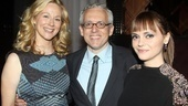 What a lucky guy! Donald Margulies gets his arms around his two lovely leading ladies, Laura Linney and Christina Ricci.