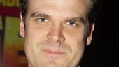 David Harbour took time off from preparing for his role in the upcoming The Merchant of Venice on Broadway to enjoy an opening night at the theater. 
