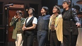 The Beatles are back on Broadway! Each of these gents—Steve Landes as John, Joey Curatolo as Paul, Joe Bithorn as George and Ralph Castelli as Ringo—did a stint on the tour of Beatlemania, and they're thrilled to settle in on the Great White Way with a little help from pianist and percussionist Mark Beyer.