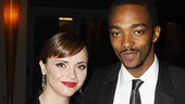 Making a fashionable entrance at the 2010 Artios Casting Awards are Time Stands Still star Christina Ricci and Anthony Mackie, who was featured in Jim Carnahan's award-winning cast of A Behanding in Spokane.
