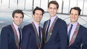 On their shows  fifth anniversary weekend, Jersey Boys stars Jarrod Spector, Dominic Nolfi, Ryan Jesse and Matt Bogart are on top of the world. 