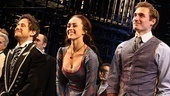 Broadway vet Christopher Fitzgerald enjoys an opening night bow with Heather Lind and Seth Numrich, both making their debuts!