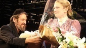 Pacino presents a gorgeous opening night bouquet for a gorgeous opening night performance from leading lady Lily Rabe.