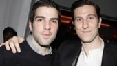 Merchant of Venice Opening night  Zachary Quinto  Pablo Schreiber