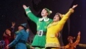 Merry Christmas everyone! Sebastian Arcelus and Amy Spanger greet the crowd at curtain call.