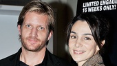 Paul Sparks, who co-stars with Michael Shannon on HBO's Boardwalk Empire, enjoys the night with wife Annie Parisse.