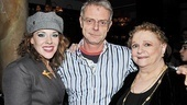 Director Stephen Daldry is happily flanked by his two leading ladies, Emily Skinner and Carole Shelley.