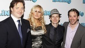 After a successful performance, Elling's Brendan Fraser, Jennifer Coolidge, Denis O'Hare and Jeremy Shamos are ready to hit their opening night party.