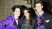 The beautiful Emmanuelle Chriqui steps in time onstage with Mary Poppins (Laura Michelle Kelly) and Bert (Gavin Lee).