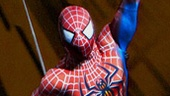 Reeve Carney as Spider-Man in Spider-Man: Turn Off the Dark.
