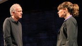Reed Birney as John Bridges and Celia Keenan-Bolger as Jenny Bridges in A Small Fire.